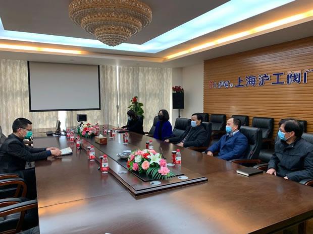 嘉定区人大常委会副主任王其明走访调研上海沪工阀门厂(图1)